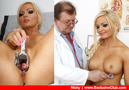 Doctor sex exam with a super blonde